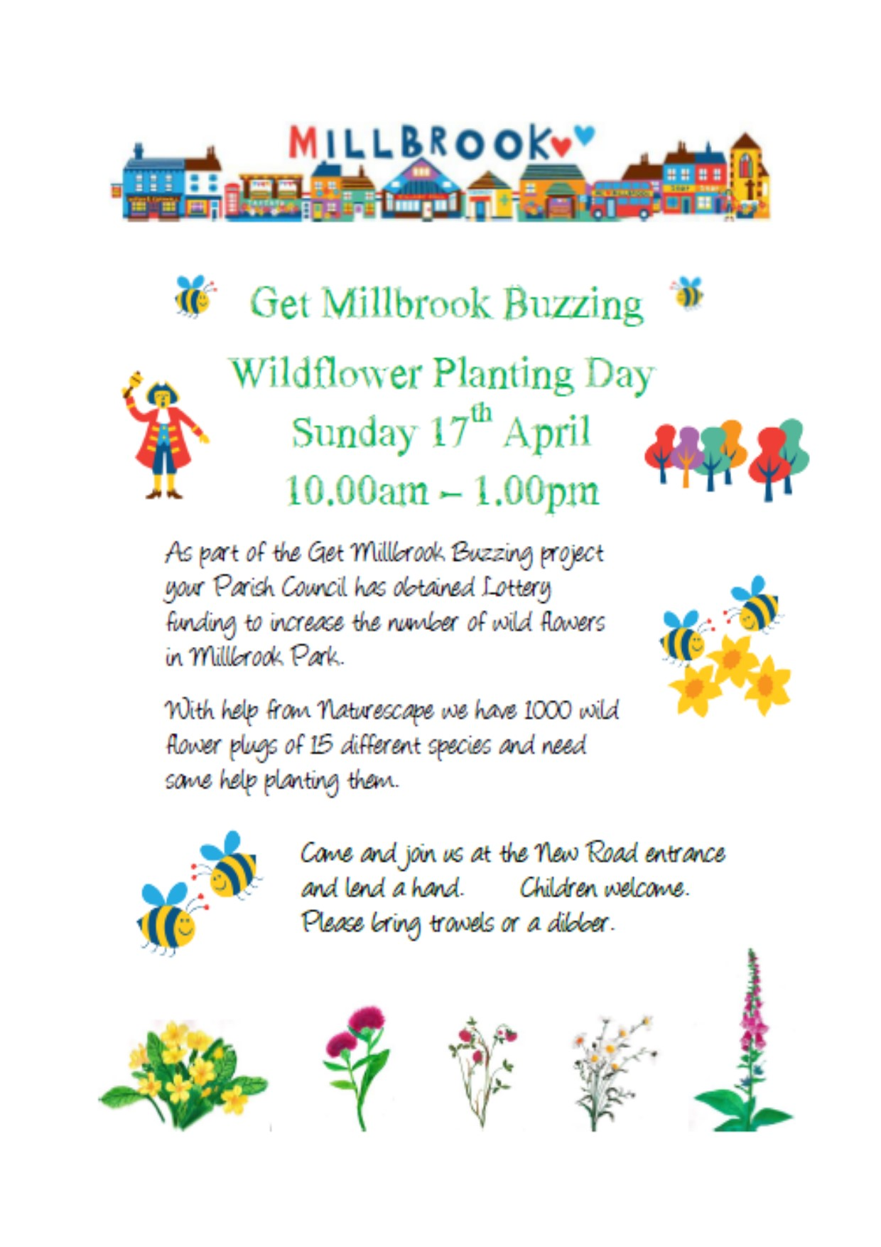 Get Millbrook Buzzing Wildflower Planting Day